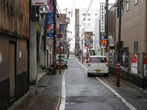 unbelebte Straße in Beppu